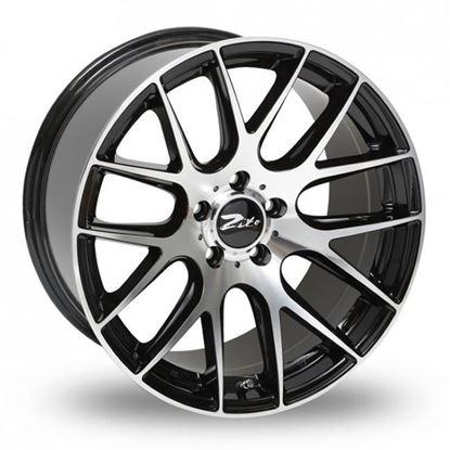 "19"" Zito 935 Gloss Black Polished Face Alloy Wheels"