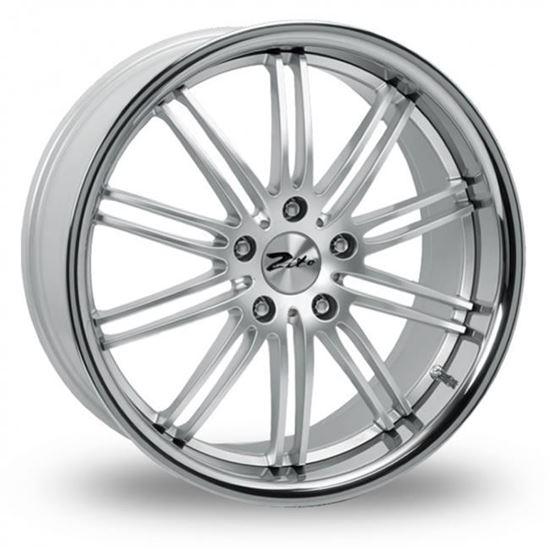 """18"""" Zito Belair Hyper Silver Alloy Wheels"""