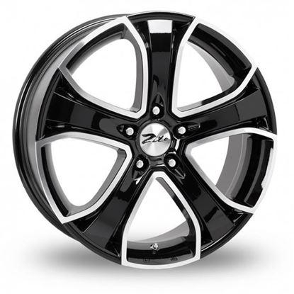 "16"" Zito Blazer Black Polished Alloy Wheels"