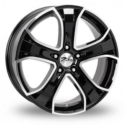 "19"" Zito Blazer Black Polished Alloy Wheels"