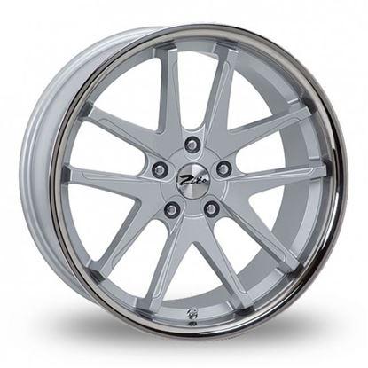 """18"""" Zito Deepstar Silver Alloy Wheels"""