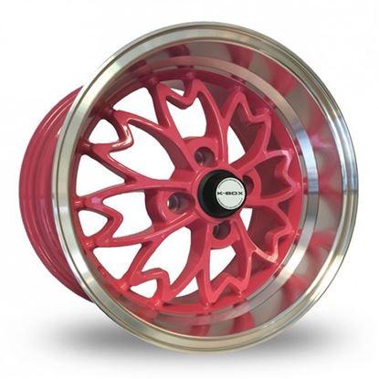 "15"" Zito Sakura Pink Polished Alloy Wheels"