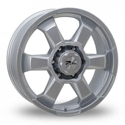 "17"" Zito SJ19 Silver Alloy Wheels"