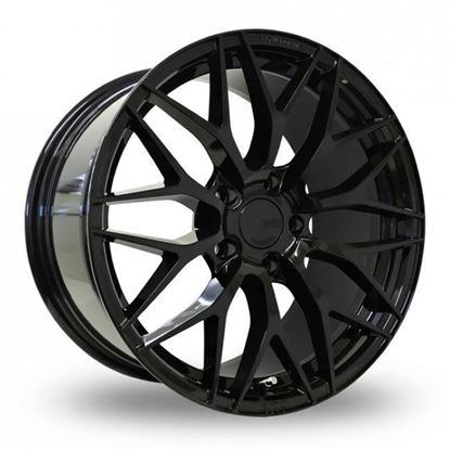 """20"""" Zito ZF01 Gloss Black Alloy Wheels"""