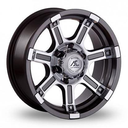 """15"""" AC Wheels Atlas Grey Polished Alloy Wheels"""