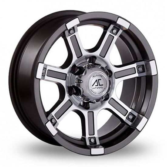 "15"" AC Wheels Atlas Grey Polished Alloy Wheels"