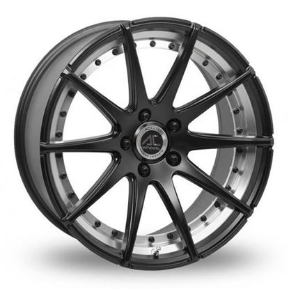 "18"" AC Wheels Elysee Matt Black Polished Alloy Wheels"