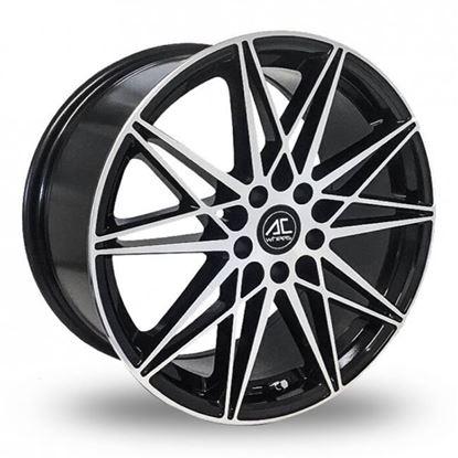 """18"""" AC Wheels Huira Black Polished Alloy Wheels"""