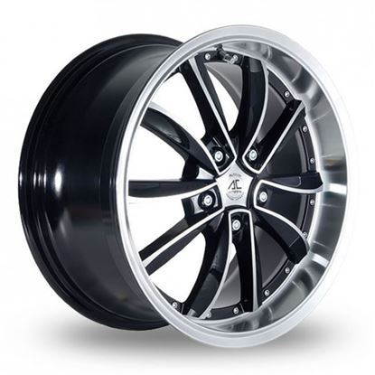 "18"" AC Wheels Fuji Black Polished Alloy Wheels"