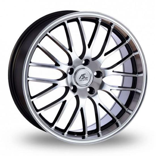 """17"""" AC Wheels Hypnotic Grey Polished Face Alloy Wheels"""