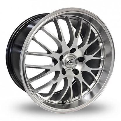 """18"""" AC Wheels Hypnotic Hyper Silver Alloy Wheels"""
