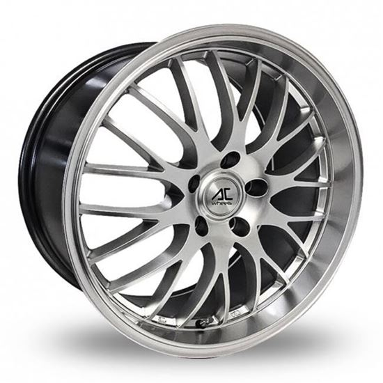 "17"" AC Wheels Hypnotic Hyper Silver Alloy Wheels"