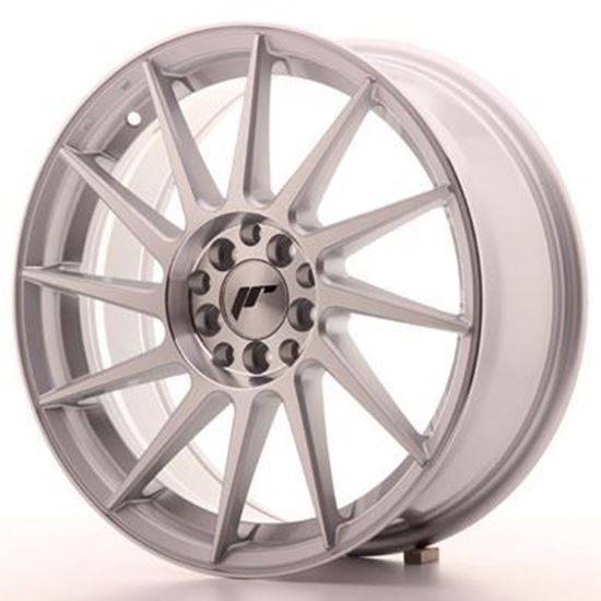 Japan Racing JR22 Silver Machined Alloy Wheels