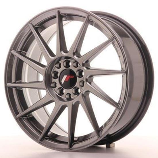 "17"" Japan Racing JR22 Hiper Black Alloy Wheels"