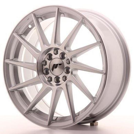 Japan Racing JR22 Silver Machined Alloy Wheels