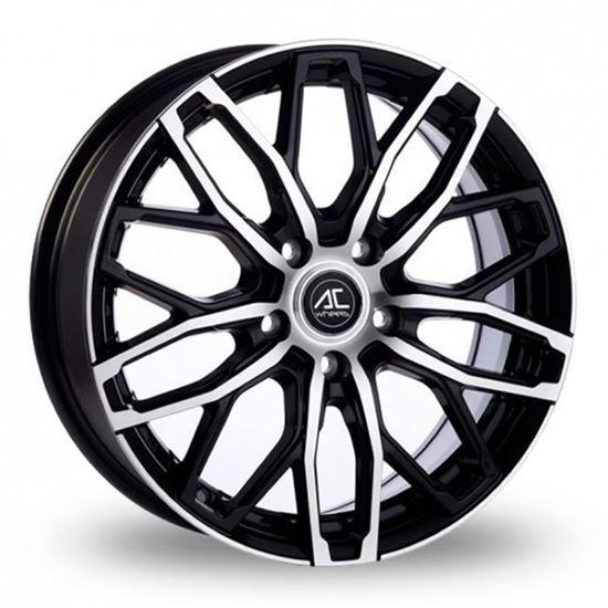 "18"" AC Wheels Karma Black Polished Alloy Wheels"