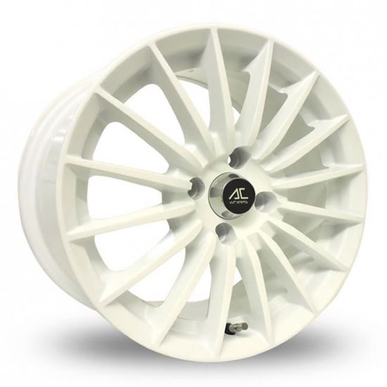 """15"""" AC Wheels Nikki White Alloy Wheels"""