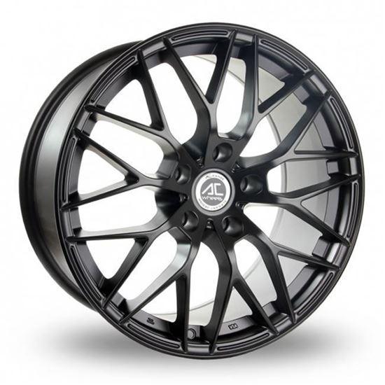 "16"" AC Wheels Saphire Matt Black Alloy Wheels"