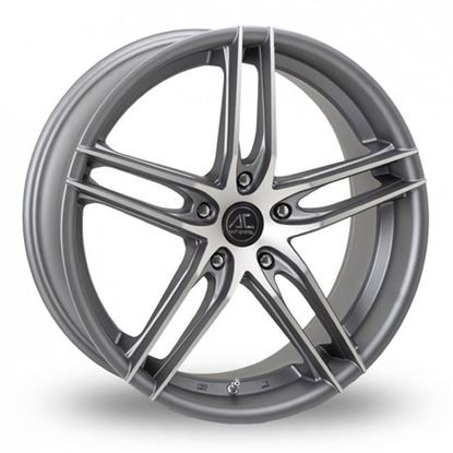 "19"" AC Wheels Shot Matt Grey Polished Alloy Wheels"