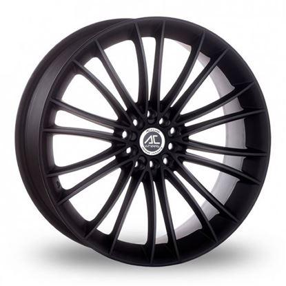 """17"""" AC Wheels Xela Matt Black Alloy Wheels"""