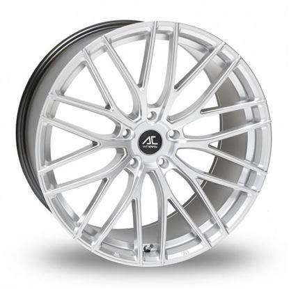 """18"""" AC Wheels Syclone Hyper Silver Alloy Wheels"""
