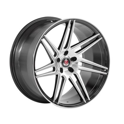 "20"" Axe EX31 Black Polished Face Alloy Wheels"