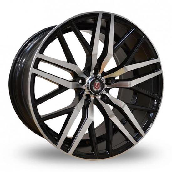 "22"" Axe EX30 Gloss Black Polished Alloy Wheels"