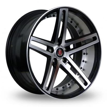"19"" Axe EX20 Gloss Black Polished Face & Barrel Alloy Wheels"