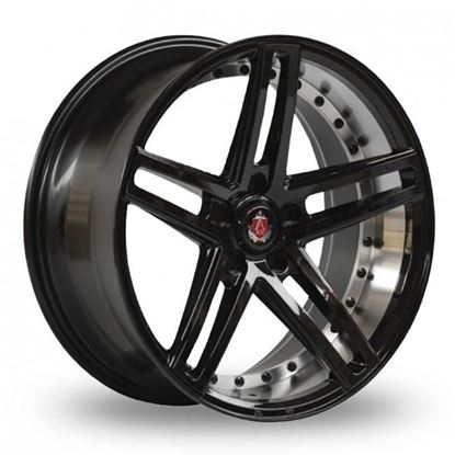 "19"" Axe EX20 Gloss Black Polished Alloy Wheels"