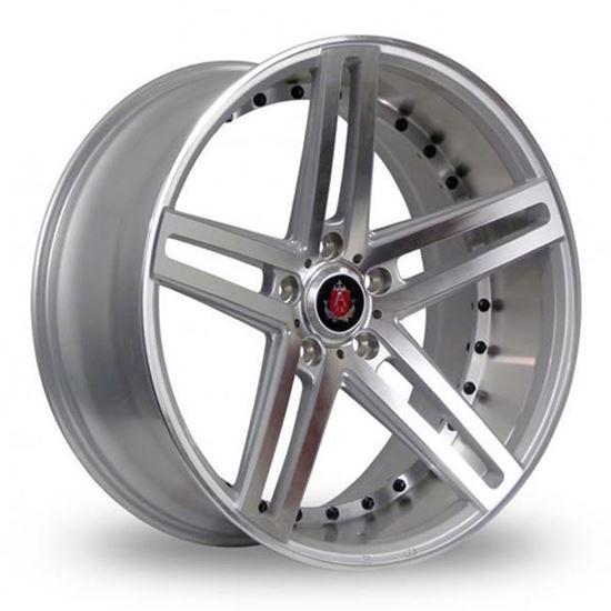 "19"" Axe EX20 Silver Polished Face & Barrel Alloy Wheels"