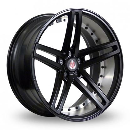 "19"" Axe EX20 Satin Black Brushed Barrel Alloy Wheels"