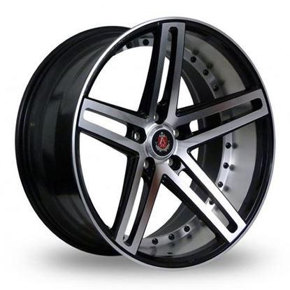 "20"" Axe EX20 Gloss Black Polished Face & Barrel Alloy Wheels"