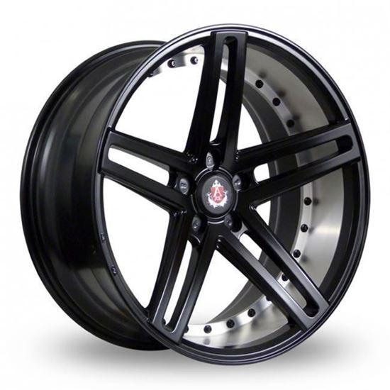 "20"" Axe EX20 Satin Black Brushed Barrel Alloy Wheels"