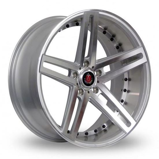 "22"" Axe EX20 Silver Polished Face & Barrel Alloy Wheels"