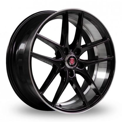 "19"" Axe EX19 Gloss Black Face Polished Lip & Barrel Alloy Wheels"