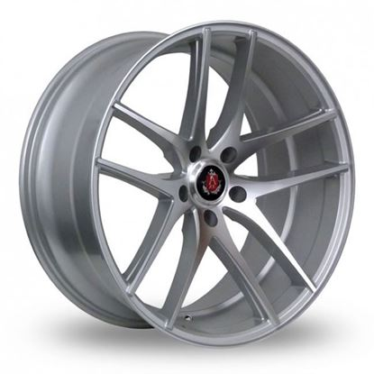 "20"" Axe EX19 Gloss Silver Polished Face Alloy Wheels"