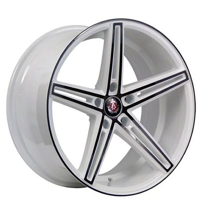 "19"" Axe EX14 White Black Polished Alloy Wheels"
