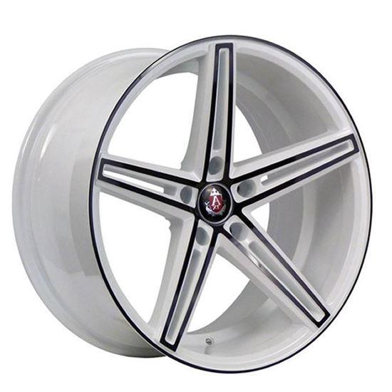 "19"" Axe EX14 White Black Polished Alloy Wheels"