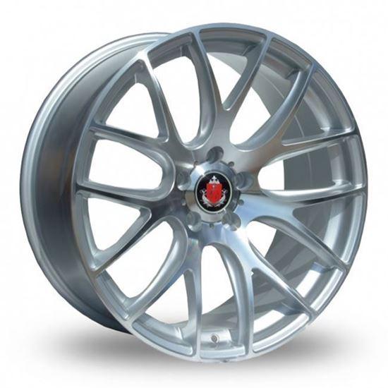 "20"" Axe CS Lite Silver Polished Face Alloy Wheels"