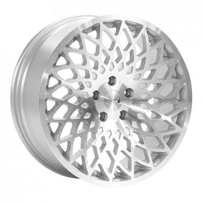 """15"""" 1AV ZX3 Silver Polished Face Alloy Wheels"""