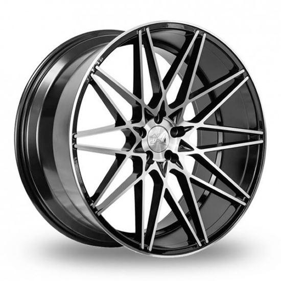 "20"" 1AV ZX4 Black Polished Face Alloy Wheels"
