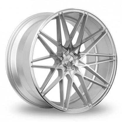 """22"""" 1AV ZX4 Silver Polished Alloy Wheels"""