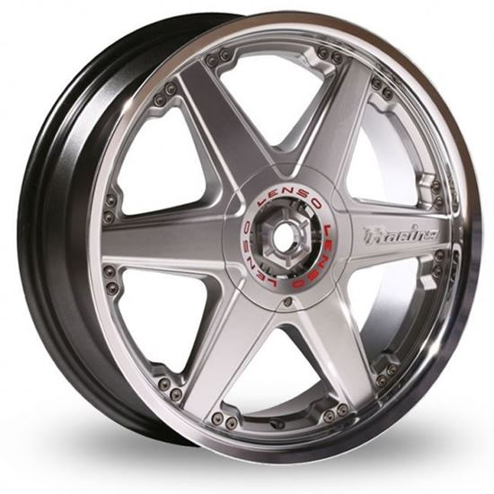 "17"" Lenso Reizen Hyper Silver Mirror Lip Alloy Wheels"