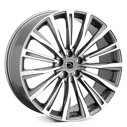 "20"" Hawke Chayton Gun Metal Polish Alloy Wheels"