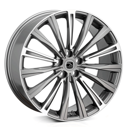 "20"" Hawke Chayton Gun Metal Highlight Alloy Wheels"