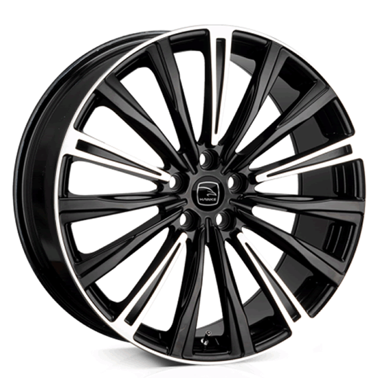 "22"" Hawke Chayton Black Highlight Alloy Wheels"