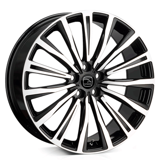 "22"" Hawke Chayton Black Polish Alloy Wheels"