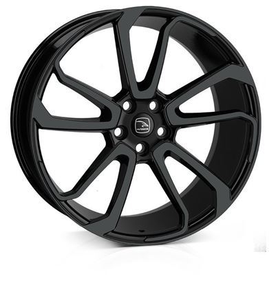 "22"" Hawke Falkon Jet Black Alloy Wheels"