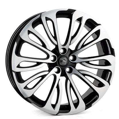 "22"" Hawke Halcyon Black Polish Alloy Wheels"
