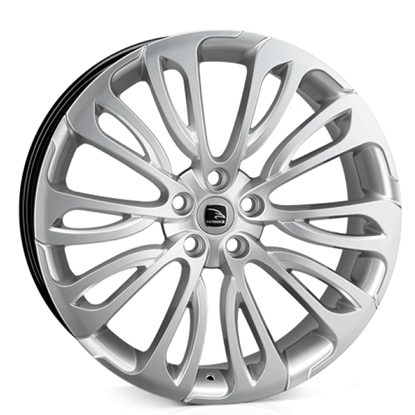 "22"" Hawke Halcyon Silver Alloy Wheels"